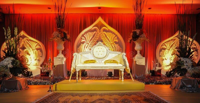 婚礼法坛,马来的婚礼概念 免版税图库摄影