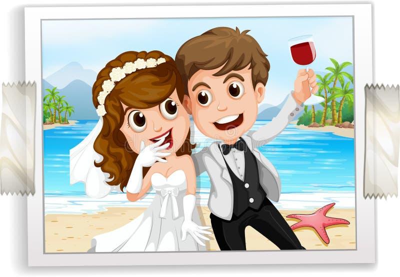 婚礼照片 向量例证