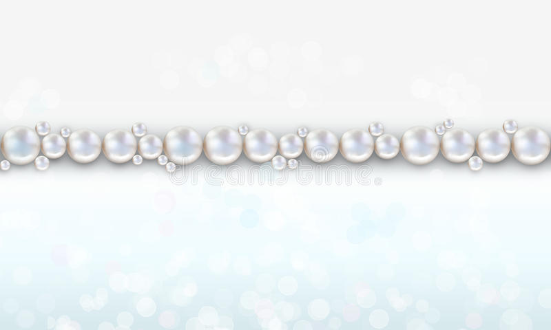 婚礼珍珠背景成珠状用桃子和蓝色颜色 皇族释放例证