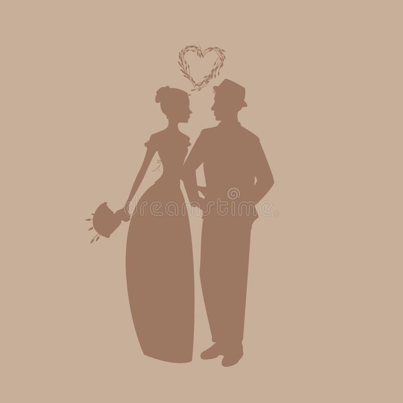 婚礼男人和妇女 免版税库存照片