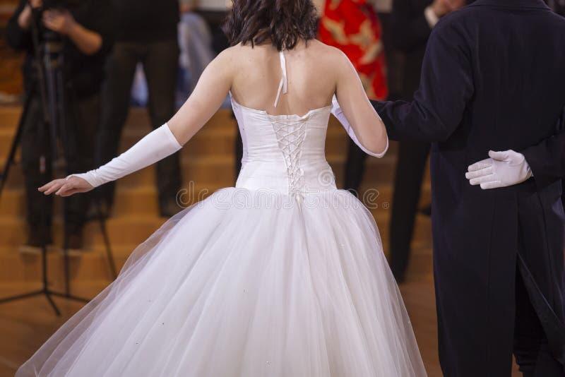 婚礼的新婚佳偶 从后面的照片 图库摄影