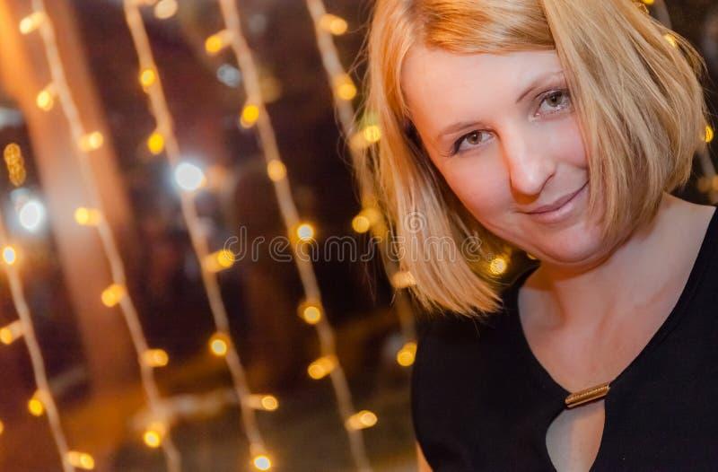 婚礼的白肤金发的女孩 图库摄影