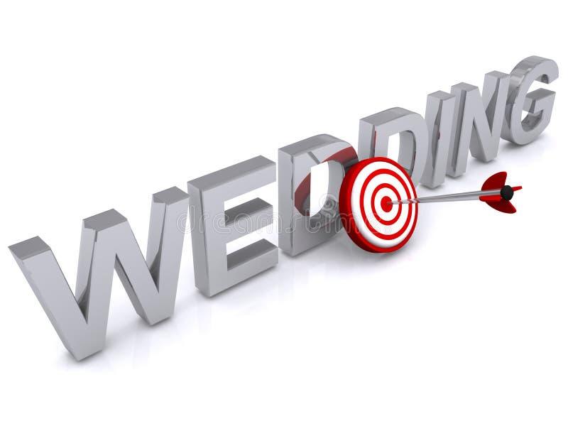婚礼目标 向量例证