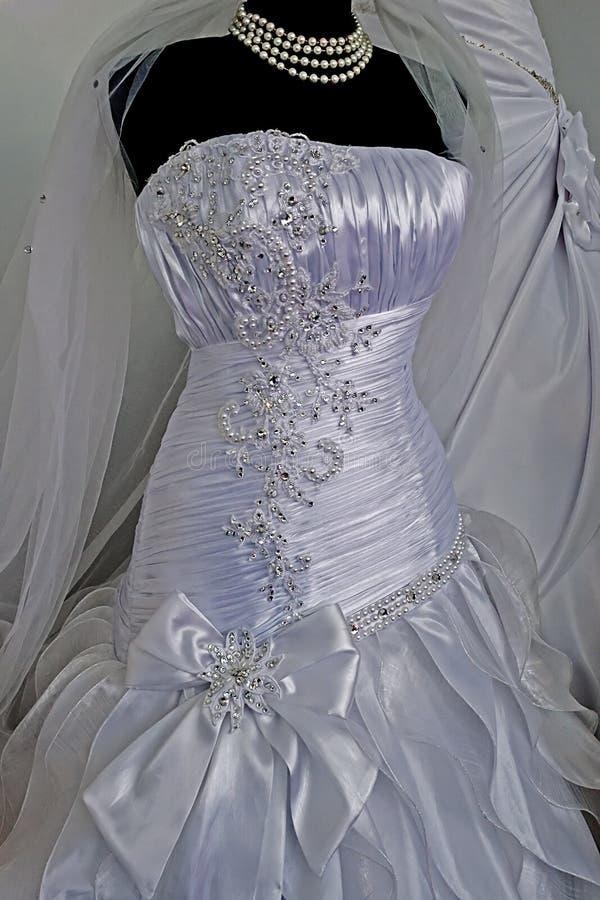 婚礼礼服。细节47 免版税库存图片