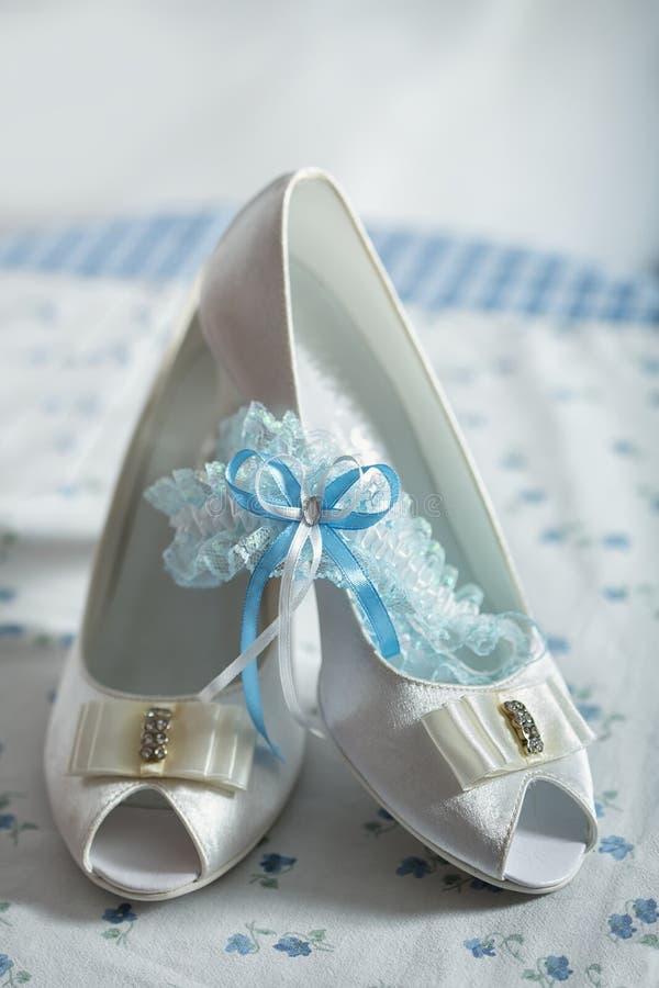 婚礼礼服和辅助部件 库存照片