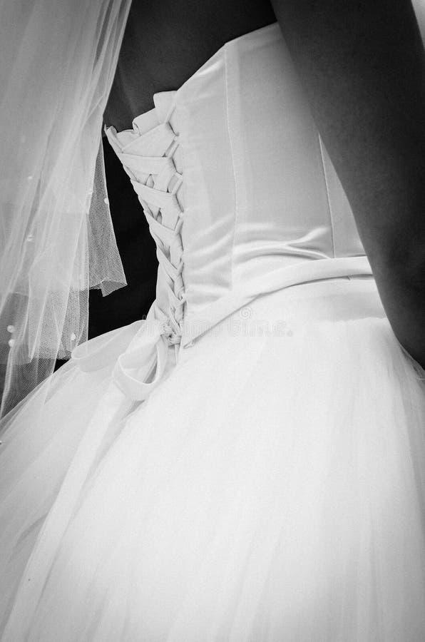 婚礼礼服束腰鞋带 库存图片