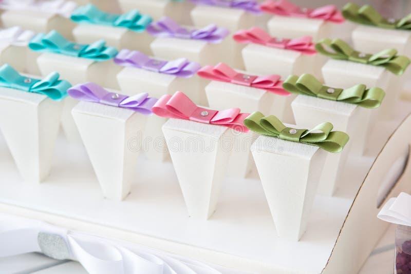 婚礼糖果自助餐 免版税库存图片