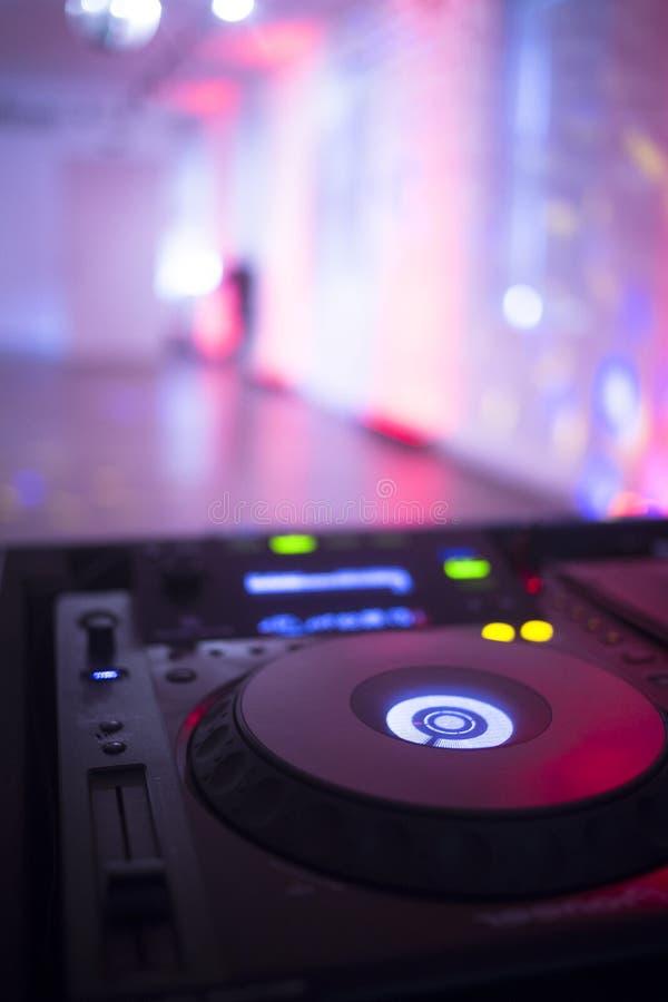 婚礼聚会的DJ节目播音员 免版税库存照片