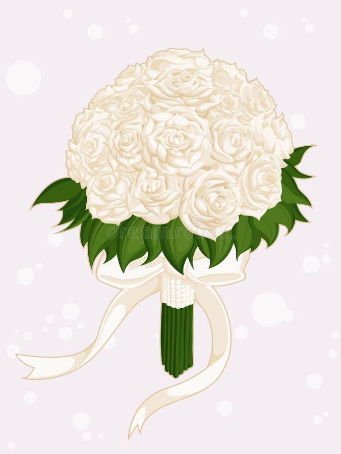 婚礼花花束 向量例证