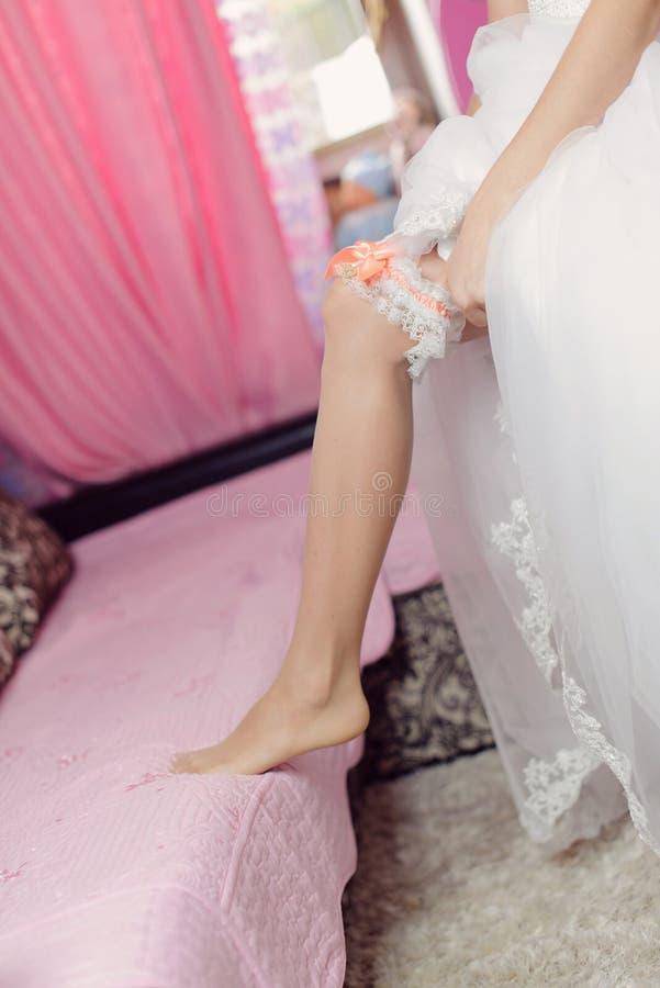 婚礼袜带 库存图片