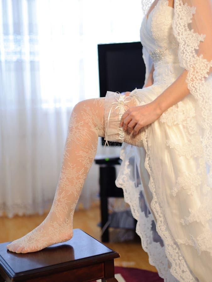 婚礼袜带 库存照片