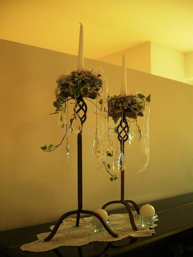 婚礼装饰在房子里 免版税库存照片