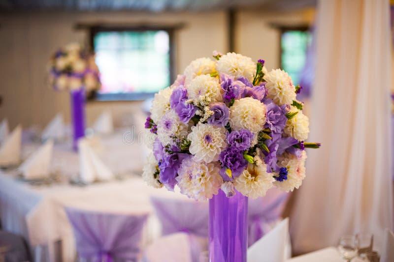 婚礼装饰桌设定 库存照片