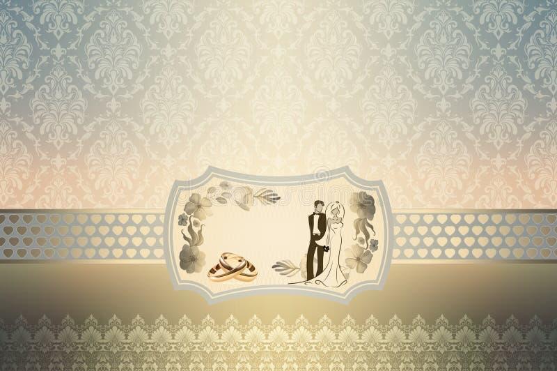 婚礼邀请卡片设计 皇族释放例证