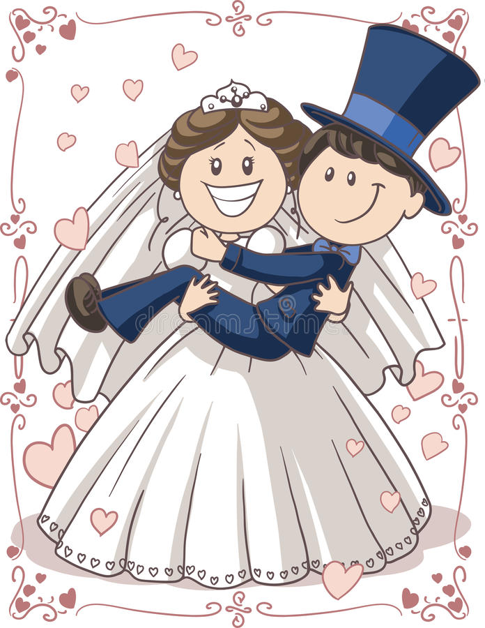 婚礼邀请夫妇 库存例证