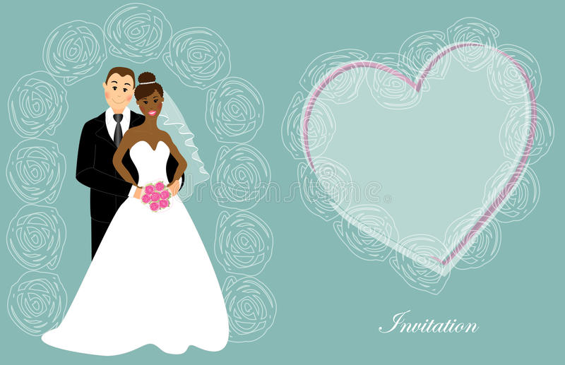 婚礼邀请7 库存例证
