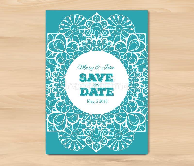 婚礼邀请,卡片模板 库存例证