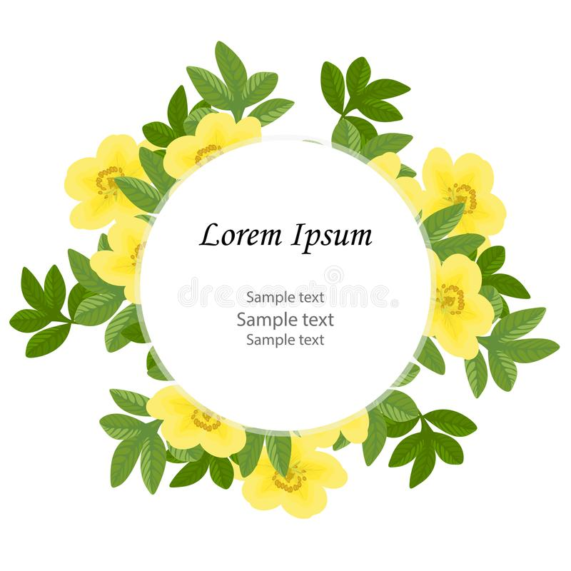 婚礼邀请,生日 花卉设计卡片:绿色留下gre 皇族释放例证