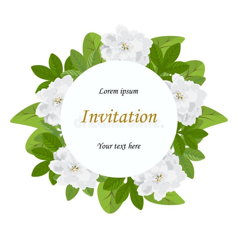 婚礼邀请,问候生日 花卉设计邀请c 库存例证