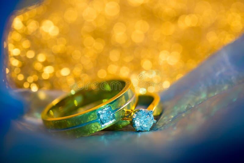 婚礼钻戒 免版税库存图片
