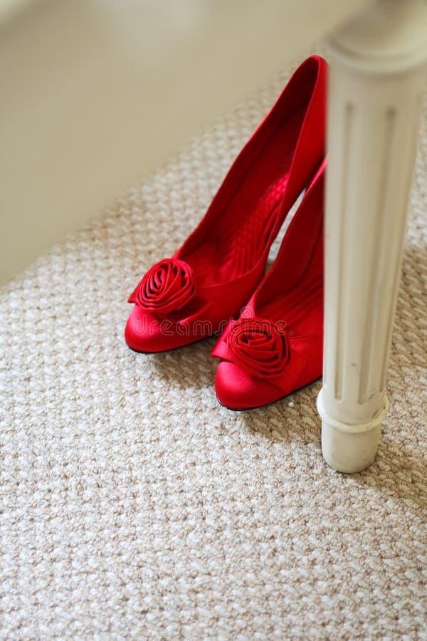 婚礼鞋子 免版税库存照片