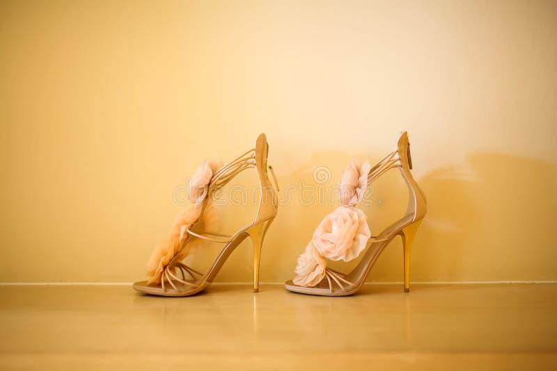 婚礼鞋子 图库摄影