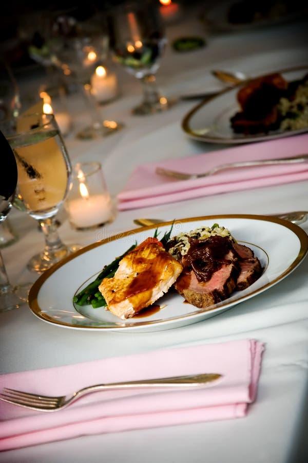婚礼食物 免版税库存照片