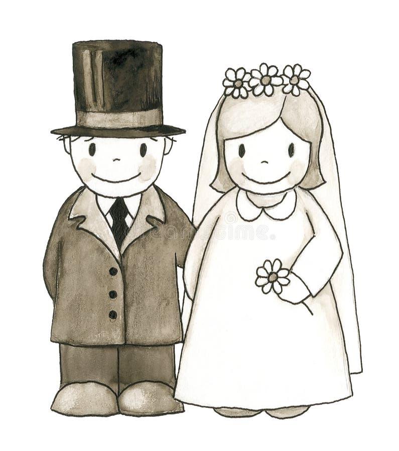 婚礼 皇族释放例证