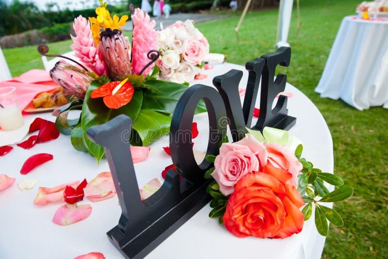 结婚宴会地区 免版税图库摄影