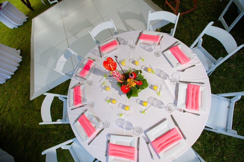 结婚宴会地区 免版税库存图片