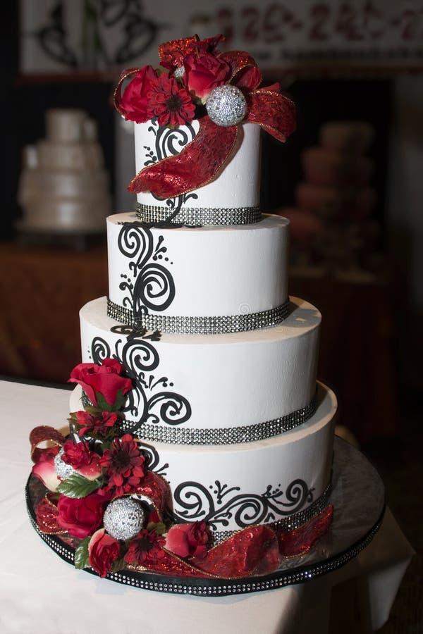 结婚宴会庆祝蛋糕 库存图片