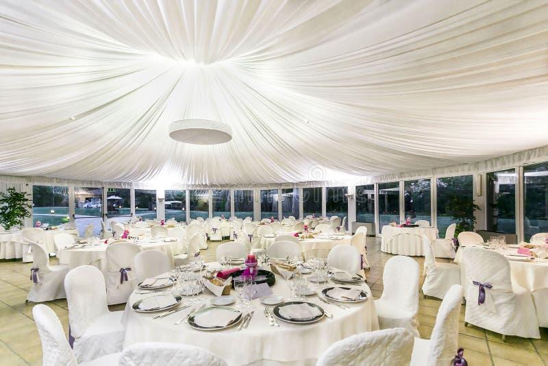 结婚宴会桌 免版税图库摄影