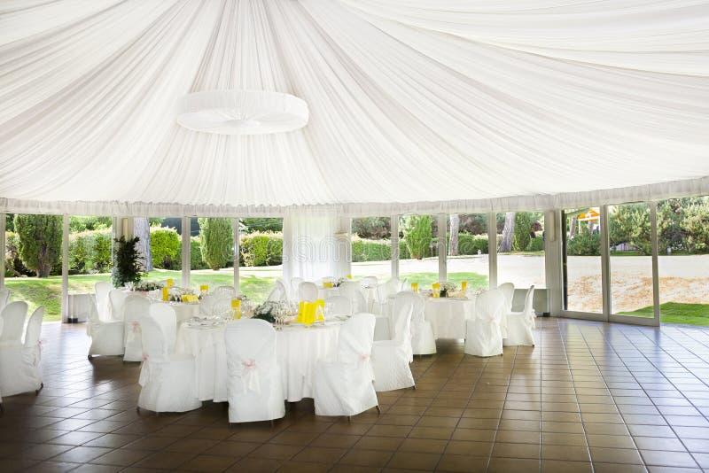 结婚宴会桌 库存照片