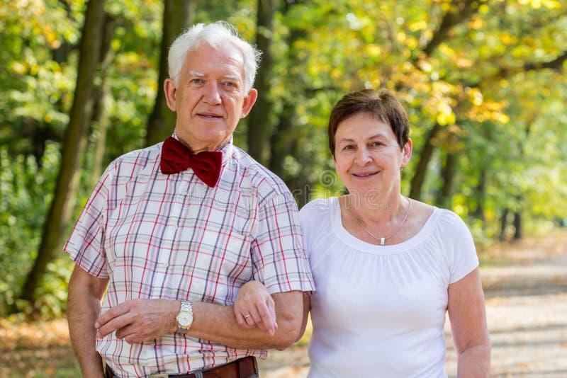 婚姻在公园 库存图片