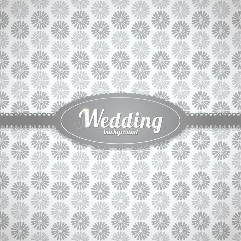 婚姻在经典样式的传染媒介无缝的样式 库存例证