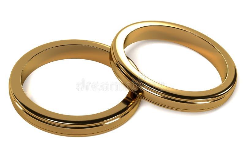 婚姻白色的背景明亮的环形 皇族释放例证