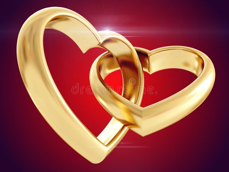 婚姻白色的背景明亮的环形 3d翻译 皇族释放例证