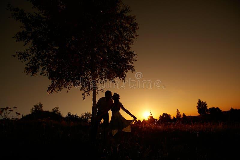 婚姻的亲吻 免版税图库摄影