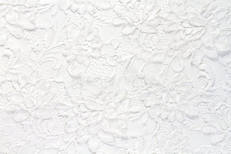 婚姻的白色鞋带背景 图库摄影