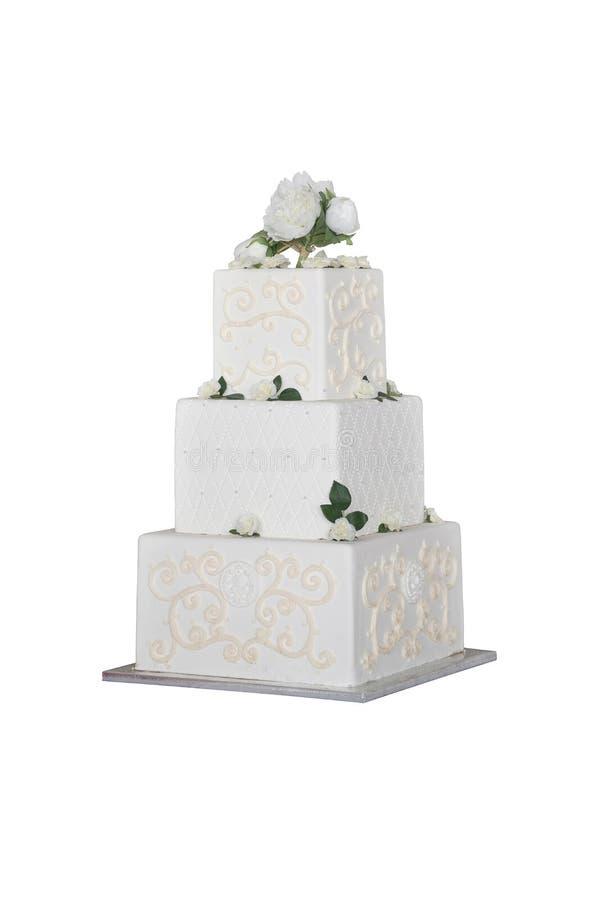 婚姻的白蛋糕 免版税图库摄影