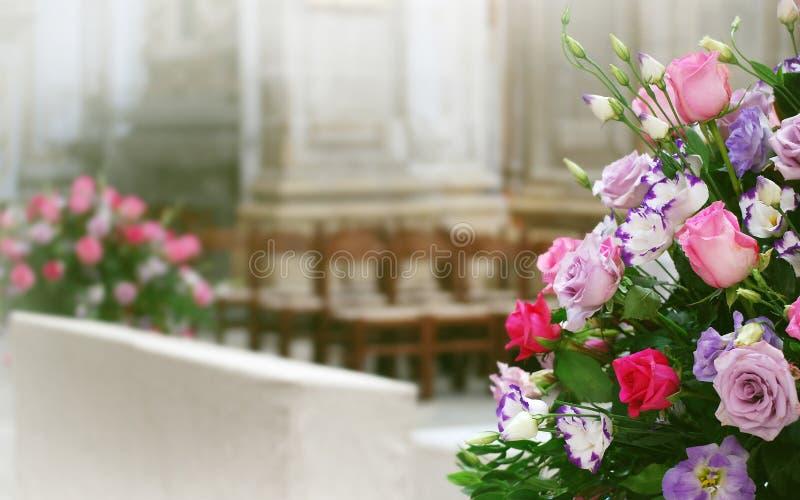 婚姻的花卉arrangment 库存照片