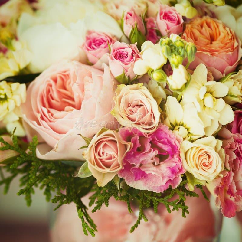 婚姻的花 Instagram作用,葡萄酒颜色 免版税库存图片