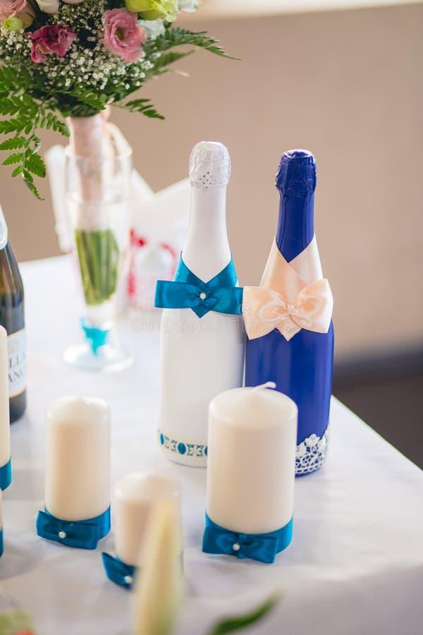 婚姻的宴会装饰 库存照片