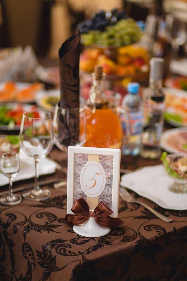 婚姻的宴会装饰 免版税库存图片