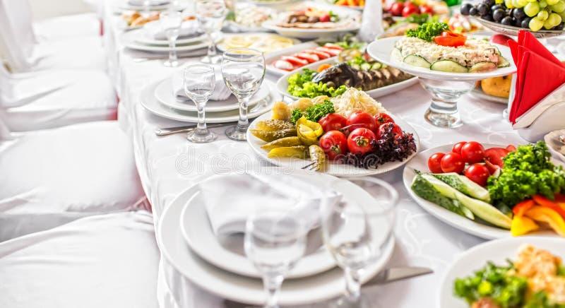 婚姻的宴会 图库摄影