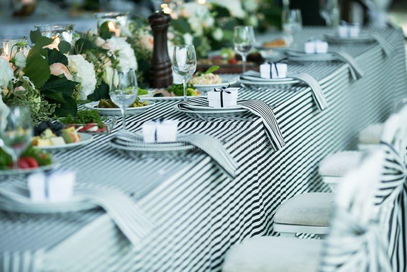 婚姻的宴会 免版税库存照片