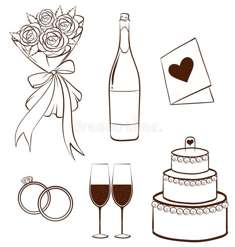 婚姻 库存例证