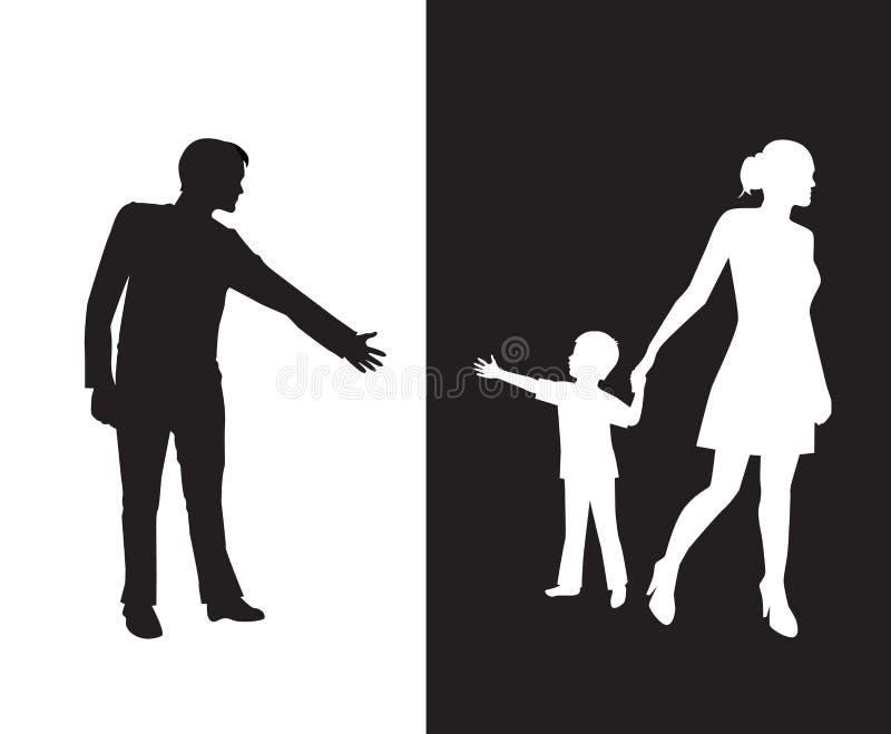 离婚 向量例证