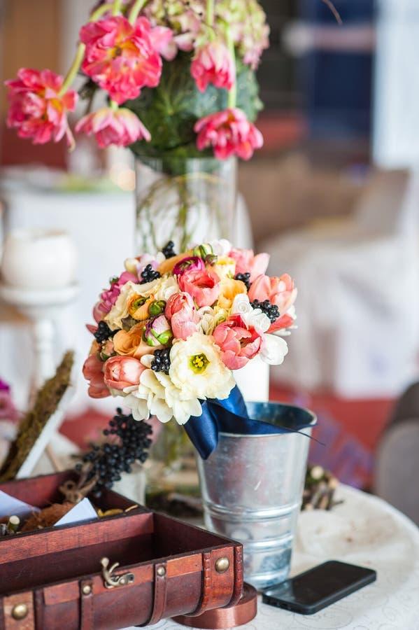 婚姻的植物布置和装饰 库存图片