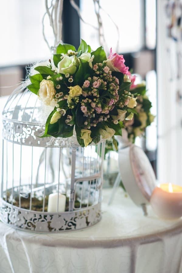 婚姻的植物布置和装饰 免版税图库摄影
